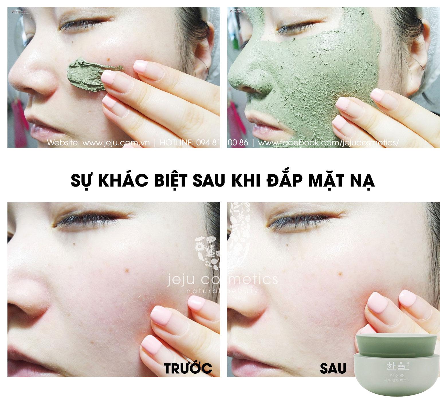 Mặt Nạ Thải Độc, Thanh Lọc, Làm Sáng Da Hanyul Pure Artemisia Purifying Mask